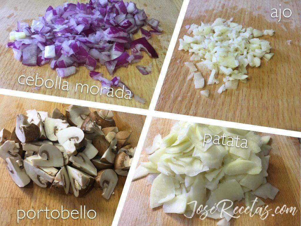 timbal de setas ingredientes