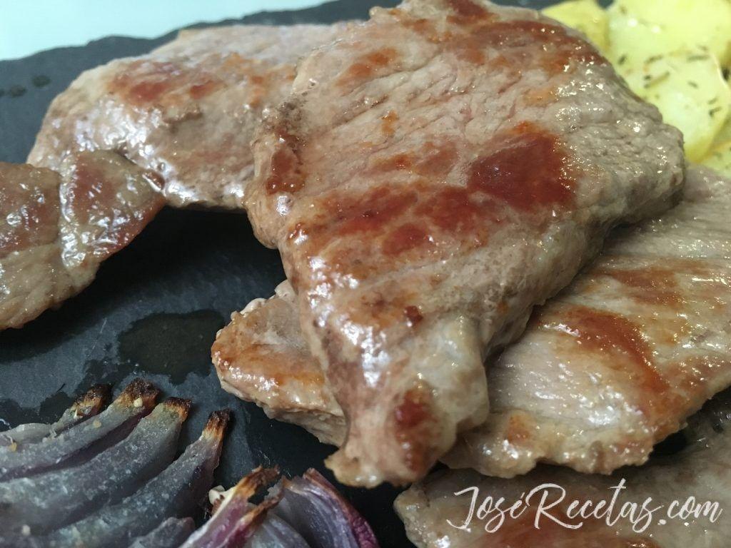 Carne de cerdo a la plancha